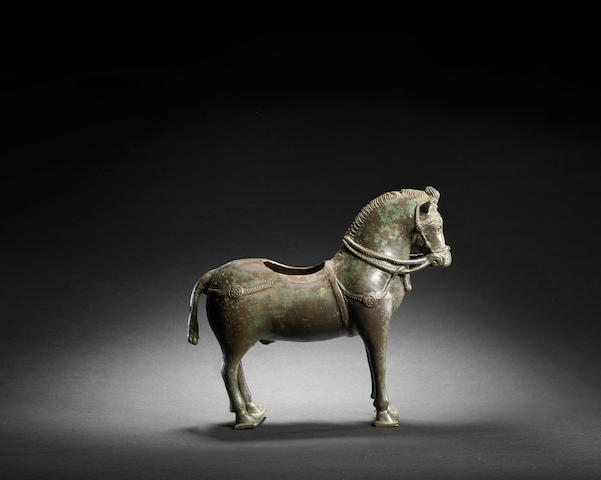 An important Post-Sassanian bronze Horse Persia, circa 7th/ 8th Century