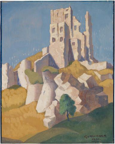 Herbert Gurschner (Austrian, 1901-1975) Corfe Castle