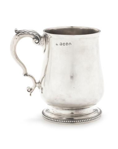 A George IV silver mug by Wallis & Hayne, London 1820  (Qty)