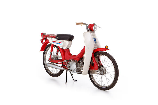 1 'push' mile recorded,c.1970 Honda PC50 'Little Honda' Moped Frame no. PC5001059165 Engine no. PC50EA-A78455