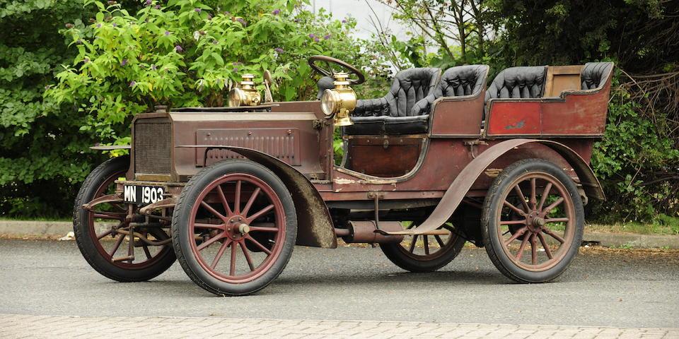 Single family ownership since 1908,Believed 1903 Lacoste et Battmann 12hp Twin-Cylinder Four-Seat Rear-Entrance Tonneau  Engine no. 553