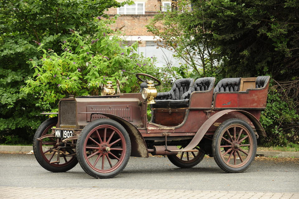 Single family ownership since 1908,Believed 1903 Lacoste et Battmann 12hp Twin-Cylinder Four-Seat Rear-Entrance Tonneau  Engine no. 553