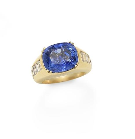 A sapphire and diamond ring, by Scardina