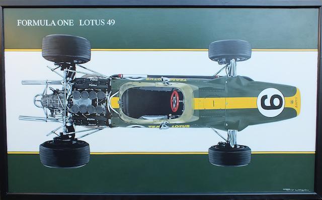 Tony Upson, '1967 Lotus 49',