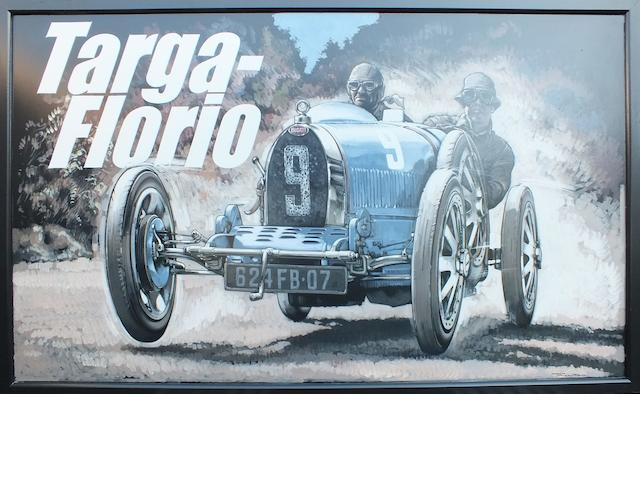Tony Upson, 'Bugatti Type 35 at Targa Florio',