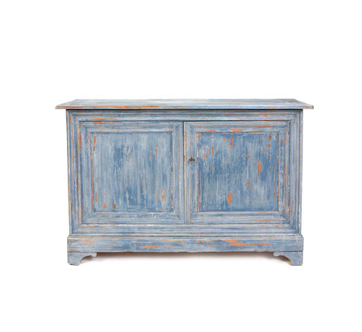 A French provincial 19th century painted side cabinet