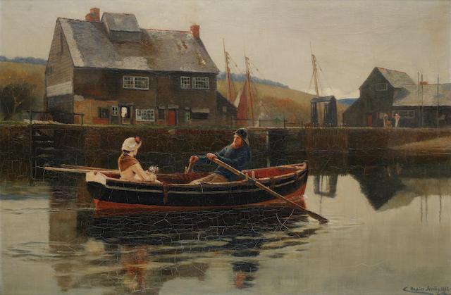 Charles Napier Hemy, RA RWS (British, 1841-1917) 'The Ferryman'