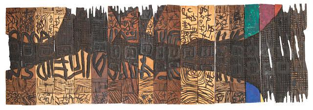 El Anatsui (Ghanaian, born 1944) 'Sacred Secrets Unfolding'