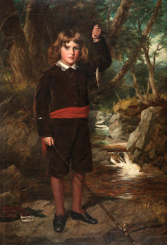James Faed (British, 1821-1911) The Young Waltonian