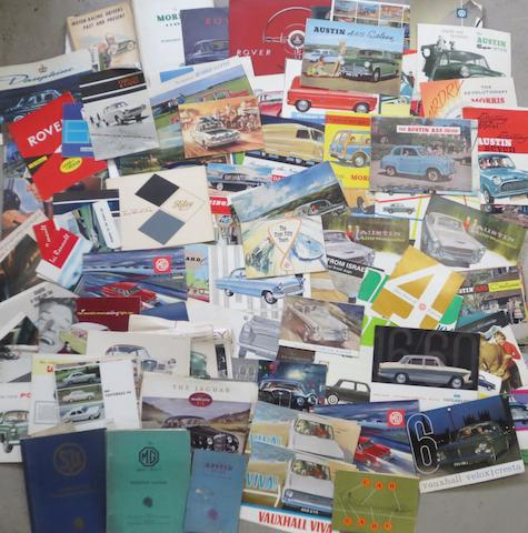 A lot of sales brochures and ephemera,
