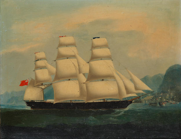 Anglo-Chinese School, 19th Century A British clipper in Hong Kong harbour