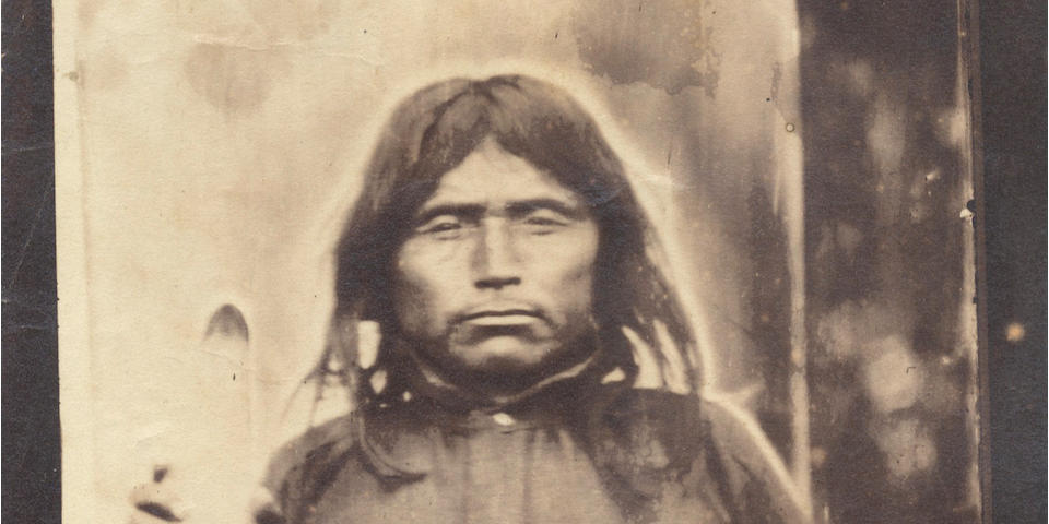 BRITISH COLUMBIA - FIRST NATION Album, relating to the career of Col. R.C. Moody, Royal Engineers, in British Columbia, including 2 fine albumen print portraits of First Nation Indians, [1850s/60s]