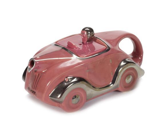 A rare pink glaze Sadler OKT42 teapot,