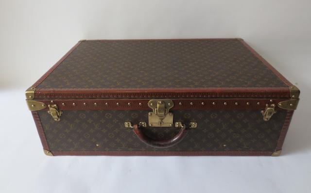 A Louis Vuitton 'Alzer Anglais' suitcase, circa 1950,