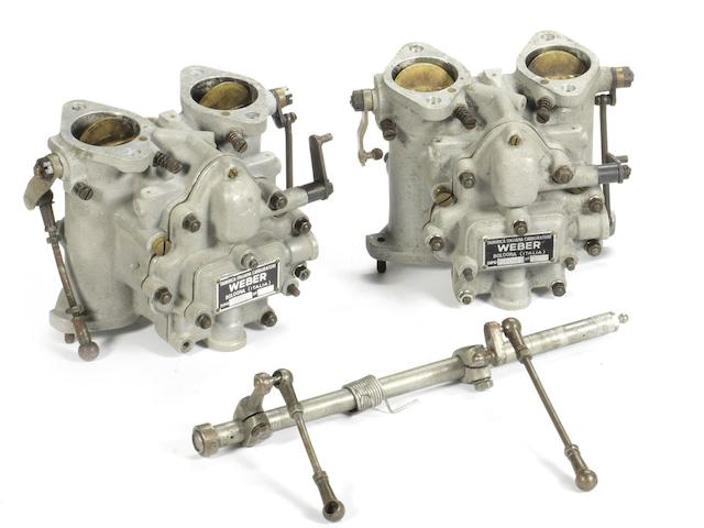 A pair of Weber Type 40 DCO3 carburettors,