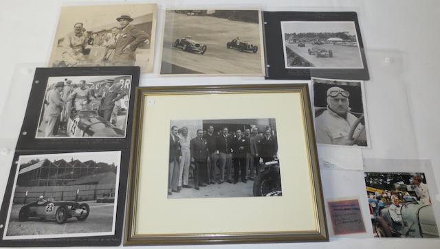 Eight photographs of George Eyston,
