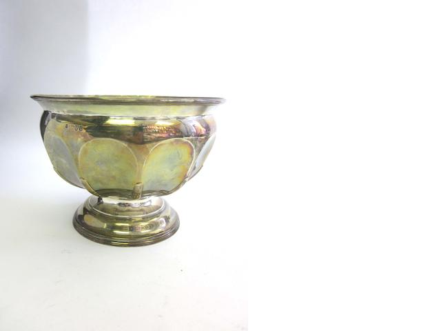 An Edwardian silver gilt bowl by George Nathan & Ridley Hayes, Chester 1905; together with a quantity of other items  (29)