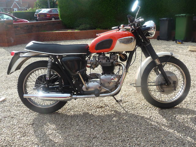 1966 Triumph T120R Bonneville Frame no. T120DU 31575 Engine no. T120 14624