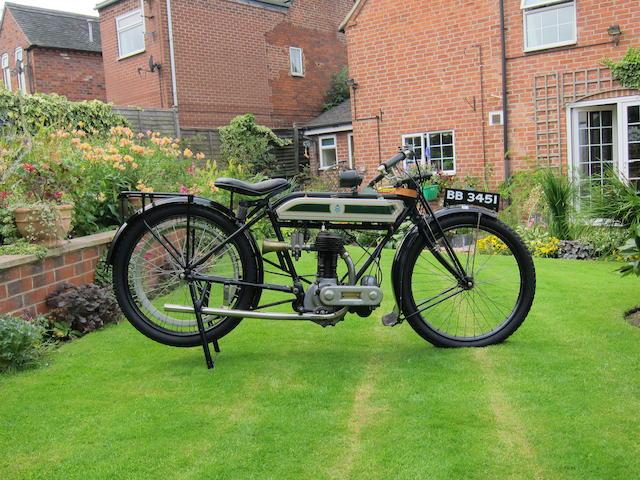 1915 Triumph 4hp Type D TT Model Frame no. 263051 Engine no. 37982