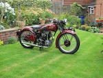 1937 Rudge 245cc Rapid Sports Frame no. 59218 Engine no. A728