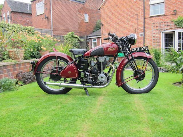 1937 Rudge 245cc Rapid Sports Frame no. 59218 Engine no. A728