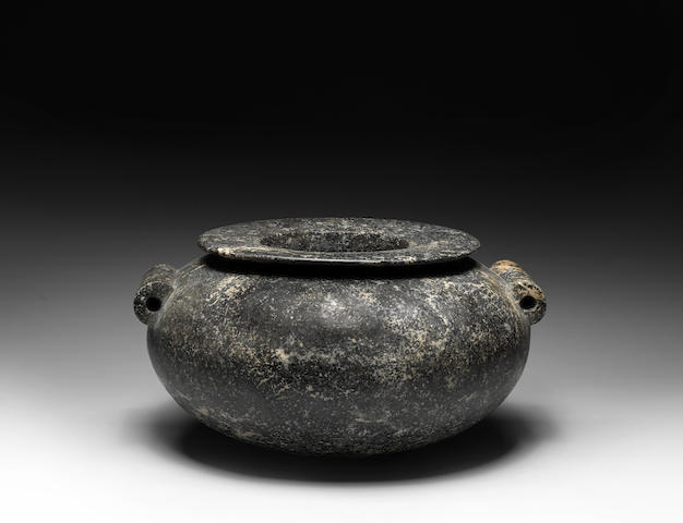 A monumental Egyptian diorite jar