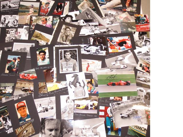 A good collection of F1 race driver signed photographs, 1970s-90s,