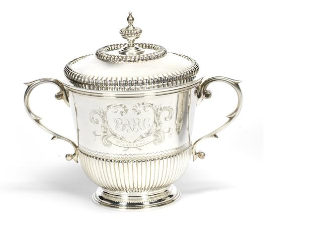 A BARC Brooklands 1921 90mph Short Handicap winner's sterling silver  trophy,