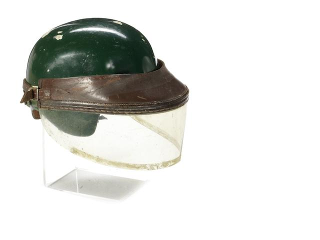 An early post-War Herbert Johnson race helmet, circa 1958,
