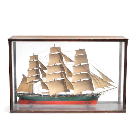 A good cased model of the clipper ship Thermopylae 37.5x24x12ins. (95x61x30cm)