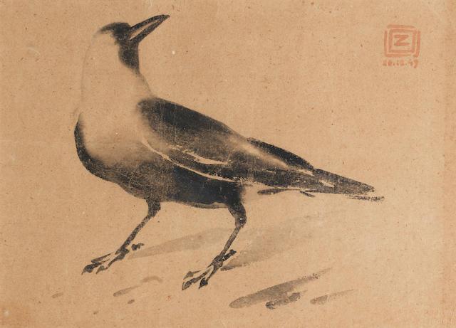 Zainul Abedin (Bangladesh, 1914-1976) Study of a Crow,
