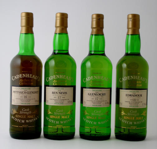 Pittyvaich-Glenlivet-16 year old-1977<BR /> Ben Nevis-17 year old-1977<BR /> Glenlochy-17 year old-1977<BR /> Edradour-18 year old-1976