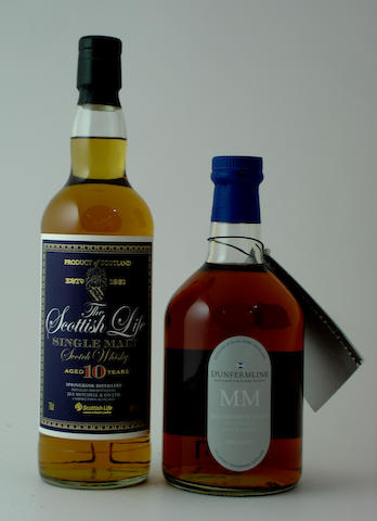 Springbank-10 year old<BR /> Blair Athol Dunfermline Millennium-10 year old