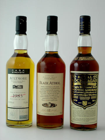 Aultmore-1983<BR /> Blair Athol-12 year old<BR /> Royal Lochnagar Selected Reserve