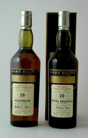 Auchroisk-28 year old-1974<BR /> Royal Brackla-20 year old-1978