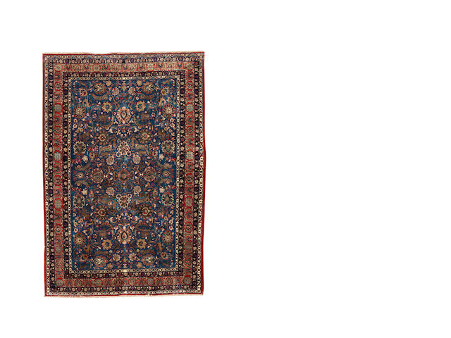 A part silk Tehran carpet, Central Persia, circa 1950, 335cm x 223cm