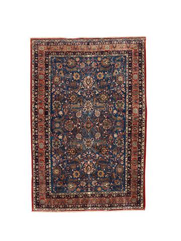 A part silk Tehran carpet, Central Persia, circa 1950, 335cm x 223cm
