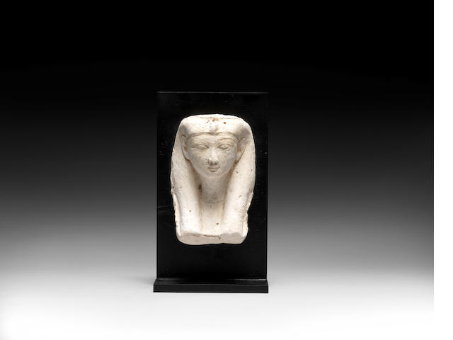 An Egyptian stucco head of a woman
