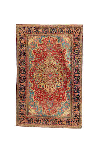 A Mohtashem Kashan rug, Central Persia, 197cm x 129cm