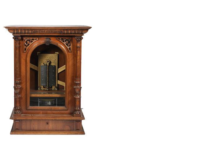 A 19⅝ inch Polyphon disc musical box, German, circa 1900,