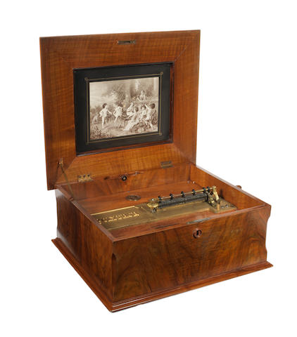 A 15½ inch Polyphon disc musical box, German,  circa 1910,