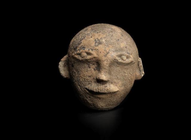 A sandstone head