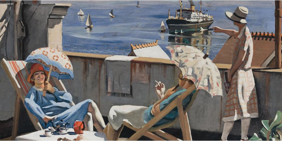 Herbert Badham (1899-1961) On the Roof, 1928