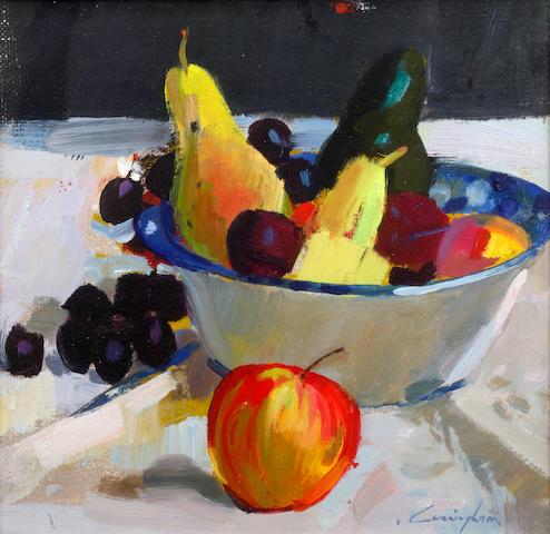 John Cunningham (British, 1927-2000) Bowl of fruit