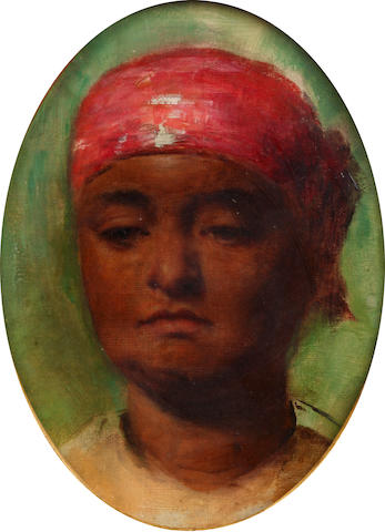 Robert Gavin, RSA (British, 1827-1883) Head of a Creole Woman