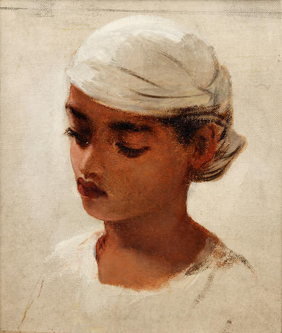 Robert Gavin, RSA (British, 1827-1883) Head of a young Mulatto girl