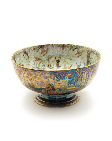 Daisy Makeig-Jones for Wedgwood 'Elves and Bell Branch' a Fairyland Lustre Punch Bowl, circa 1925