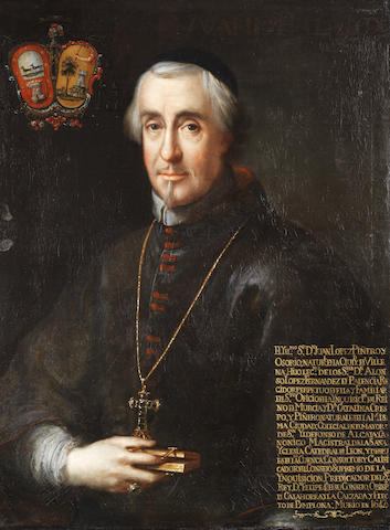 School of Seville, 17th Century Portrait of Juan Lopez de Piñero Osorio, half-length,