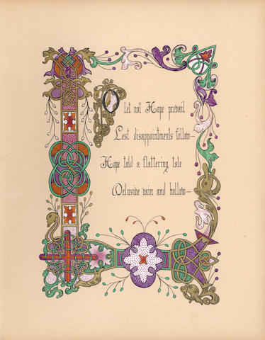 ILLUMINATED MANUSCRIPT ALBUM BAIRD (EDITH ELINA HELEN, Chess writer) [A 19th Century Album of Illuminated Poetry and Prose], 1881