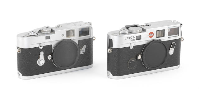 Leica M2 and Leica M6 TTL Model, 1961 and 1999, (2)